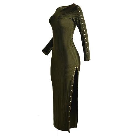 Zerozero Damen Knit Long Sleeve Pullover Stricken Lange Bodycon Schlank  Wickelkleid: Amazon.de: Bekleidung