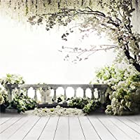Kate 10x10ft Digital Photography Backdrops Wood Floor White Flowers Background Natural Scenery For wedding Photo Studio Backdrop