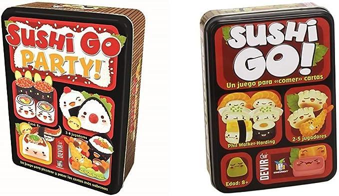 Devir - Sushi Go Party: edición en Castellano, Juego de Mesa (BGSGPARTY) + - Sushi Go Juego de Mesa, Multicolor, Miscelanea (BGSUSHI): Amazon.es: Juguetes y juegos