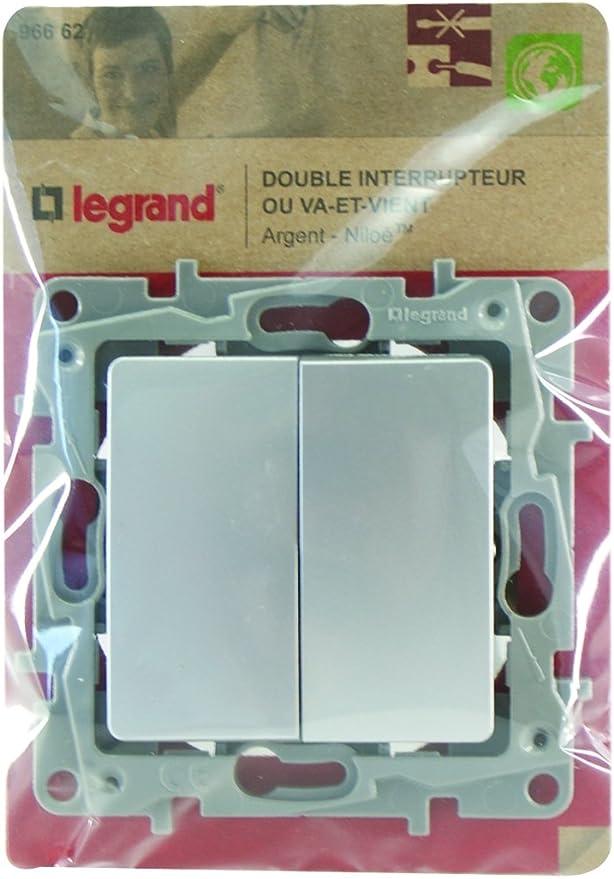 Legrand LEG96664 Poussoir argent Niloe