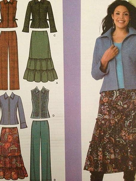 Simplicidad Khaliah Ali Collection diseño 4375 - Falda para Mujer ...