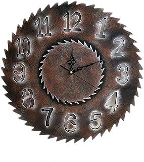Riverry Horloges murales Retro Handmade Gear Mécanisme en bois Horloge murale Art de luxe Grand horloge murale Gear décore parfaitement vos murs de maison et de chambre à coucher (Silver Rome 40cm)