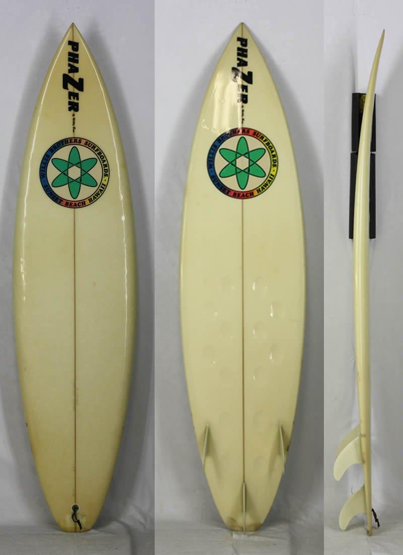 6'4  Willis Brothers SURFBOARDS [CLEAR] PHAZERボトム HAWAII 伝説レジェンドウィリスブラザーズ サーフボード