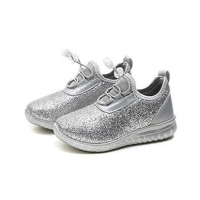 1f1fdd69346e79 GongzhuMM Sneakers Mixte Enfant, Chaussures Bébé Paillettes Argent Or,  Baskets Bébé 2 Ans-