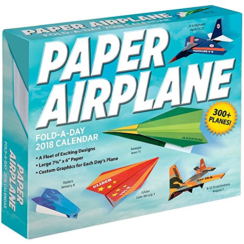 Paper Airplane Fold-a-Day 2018 Day-to-Day Daily Desk Boxed Calendar (Desk Today Calendar)