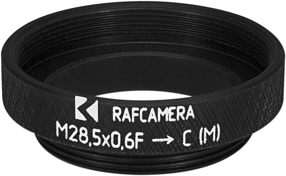 to C-Mount Male Thread Adapter 1.25/″ Astronomy Filters M28.5x0.6 Female
