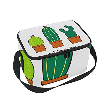 451cc13a5cd2 Amazon.com: Lunch Bag Can't Touch This Cactus Womens Insulated Lunch ...
