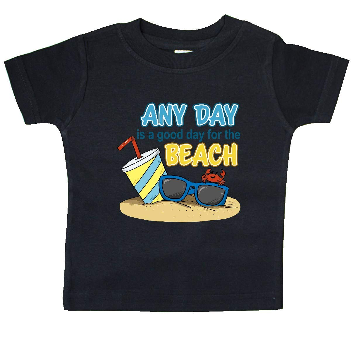 Drink Baby T-Shirt inktastic Any Day is a Good Day for The Beach-Crab