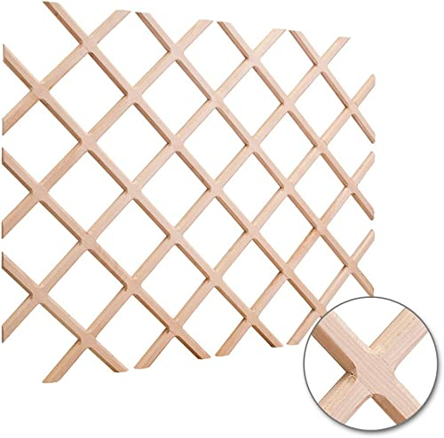 Oak 25″ x 45″ Beveled Wine Lattice Rack