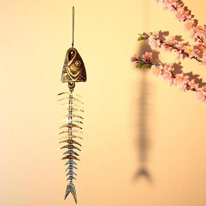 Kentop Bronze Klangfarbe Glocken Windspiele Windspiel H/ängend Fisch