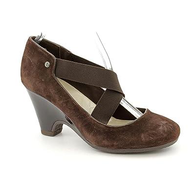 ffe9d98149 Giani Bernini G.B. Fraga Strappy Pump Heels - Dark Brown, Brown, Size 6.5