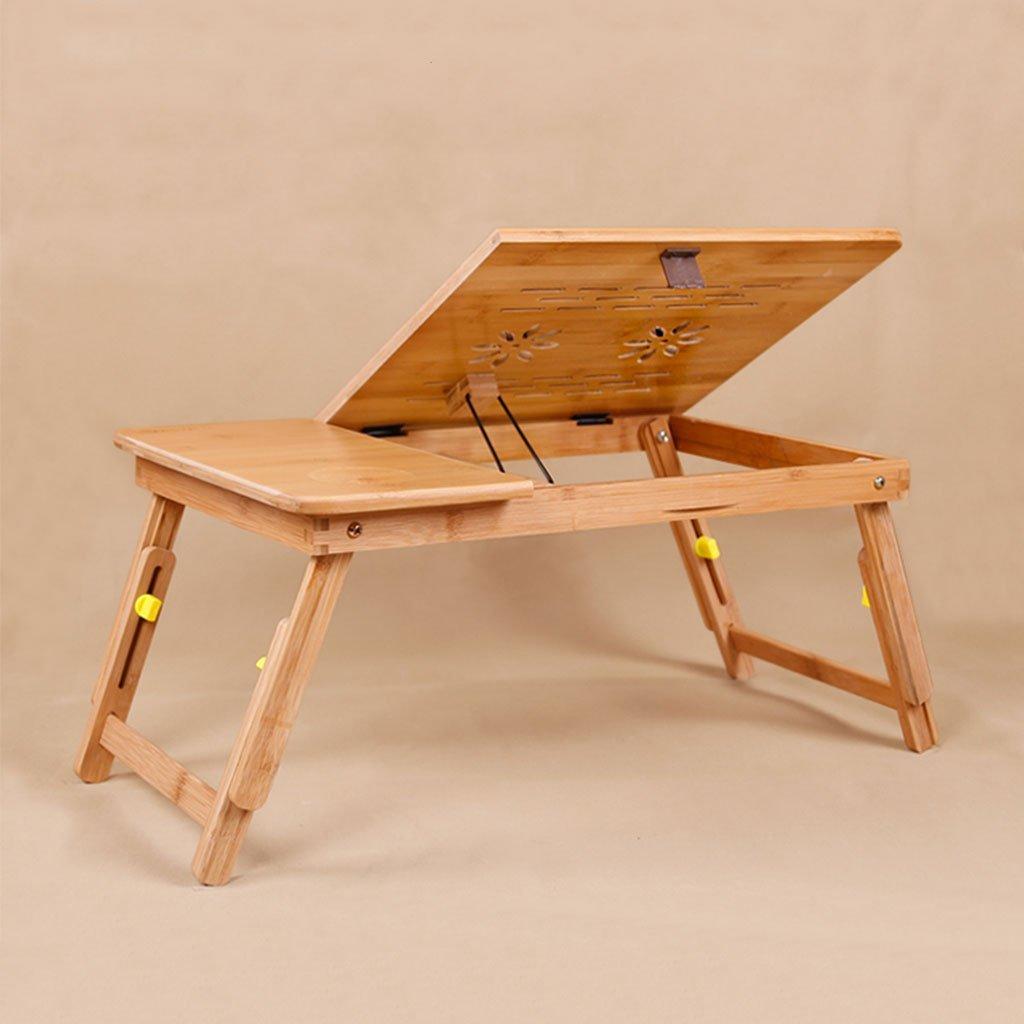 KKY-ENTER 折りたたみテーブルナチュラルソリッドウッドラップトップテーブルベッドサイド折りたたみ式伸縮自宅の寮シンプルな学生デスク (色 : 普通の, サイズ さいず : 50*30*27cm) B07DK9B74G 50*30*27cm 普通の 普通の 50*30*27cm
