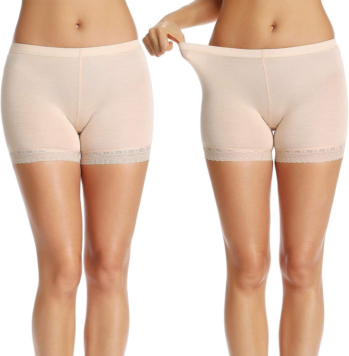 WOWENY Spitze Shorts Damen Lace Leggings Sicherheits Unterhose Sicherheits Anti-Licht Gamaschen Mittlere Taille Miederhosen Panties Elastisch Miederslips Tailenslips