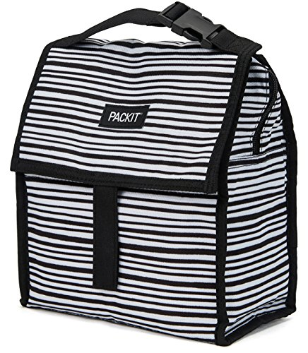 - PackIt Freezable Lunch Bag with Zip Closure, Wobbly Stripes