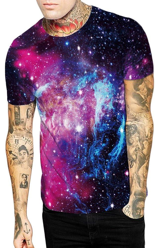 EmilyLe Cool Design T-Shirts Magliette a Maniche Corte con Stampa 3D Colorate per Ragazzi e Uomini