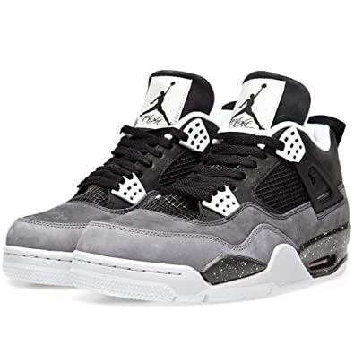 more photos a6926 a2871 Nike Mens Air Jordan 4 Retro Fear Pack Black/Cool Grey Suede Basketball  Shoes Size 10.5