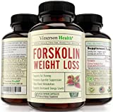 45 Day Supply - Pure Forskolin Extract for Weight Loss 100% All Natural and Non-Gmo. Gluten Free & Vegetarian. 500mg Per Day (250mg Coleus Forskohlii Root Extract Standardized At 20% Per Pill As Recommended By the Experts). Effective High Grade Appetite Suppressant, Metabolism Booster, Fat Burner & Carb Blocker That Works for Women and Men. 90 Veggie Capsules. Made in the USA
