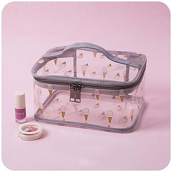 Amazon.com   Transparent Waterproof Cosmetic bags Portable Simple Cute Girl Wash  bag Makeup bags travel Toiletry bag for women-BrownC 23x10x17cm(9x4x7inch)  ... 7b41452cab362