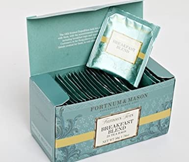 Fortnum & Mason British Tea, Breakfast Blend, 25 Tea bags (1 Pack) NEW Product ID34SD - USA Stock