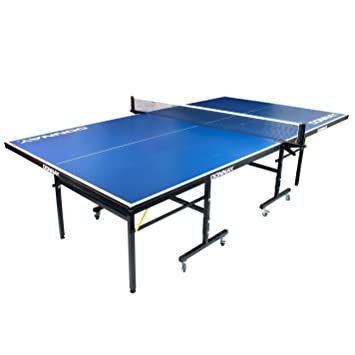 Donnay Indoor Outdoor Table Tennis Table Blue Full Size Folding Ping Pong