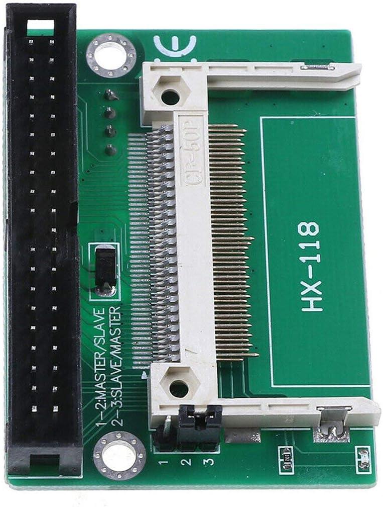 Qingchul Unterst/ützung f/ür kompakte bootf/ähige Konverter mit CF zu 3,5-Zoll-IDE-Karte Unterst/ützung f/ür DMA 40-Pin-Adapter Festplattenkonverter-Stecker