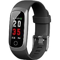 Trswyop Fitness Tracker [Ultima Versione] Orologio Fitness Braccialetto Pressione Sanguigna Cardiofrequenzimetro da Polso GPS Smartwatch Donna Uomo Impermeabile IP67 Contapassi Cronometro Notifiche