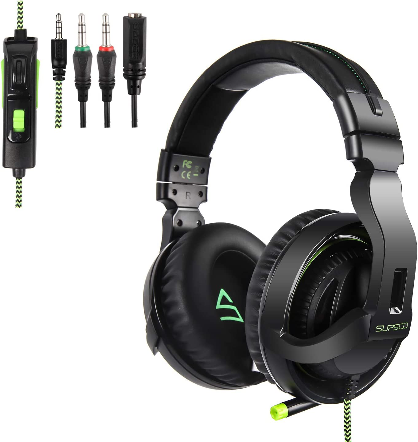 Supsoo Gaming Headset for Xbox ONE/PS4/PC Noise Cancelling Headphones Surround Sound & Volume Control - G822