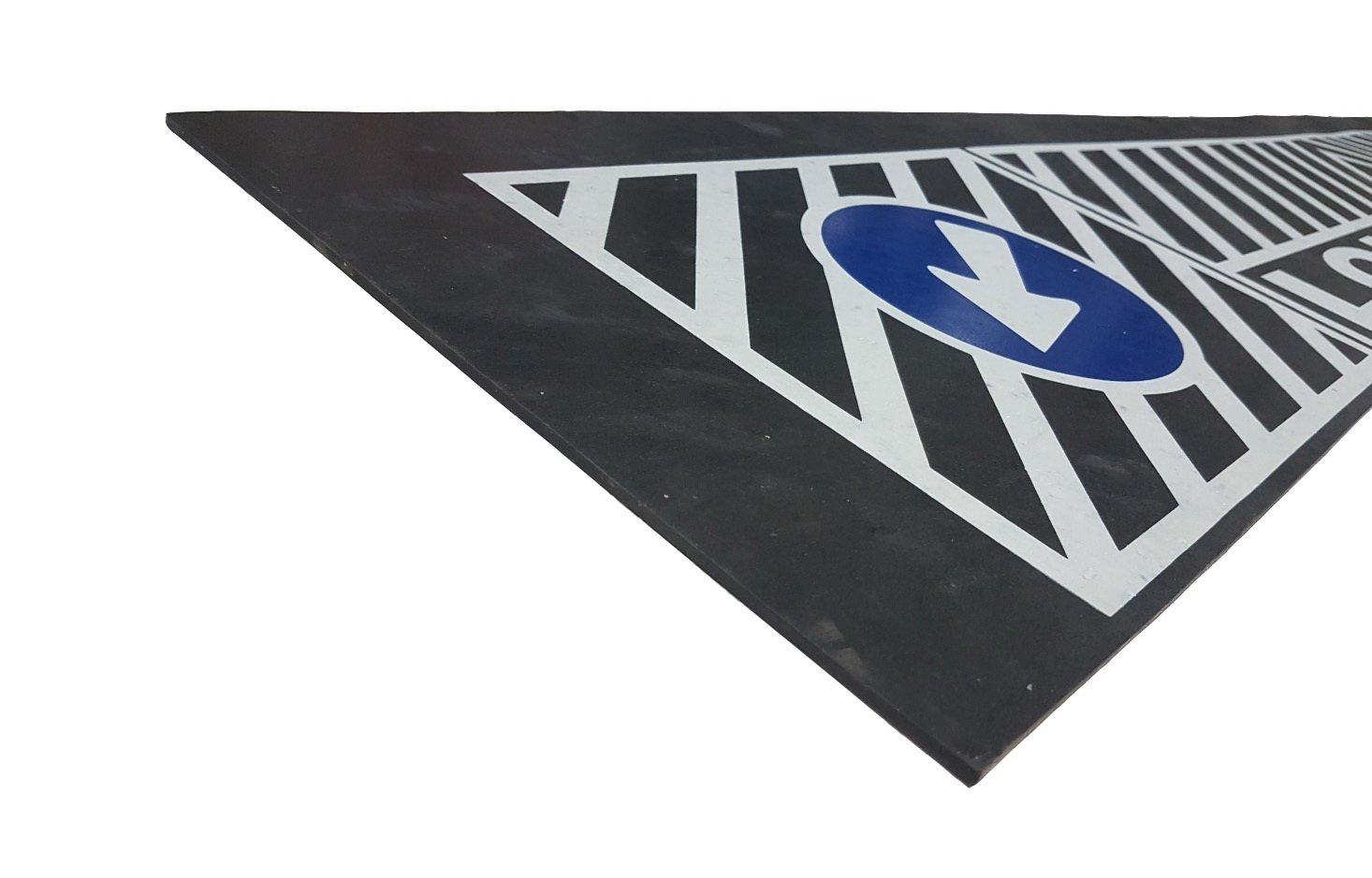 Heavy Duty UV en caoutchouc Garde-boue arri/ère Boue Rabat Long v/éhicule Road Traffic Signs pour camion remorque 239/x 35/cm//238,8/x 35,1/cm 1/pcs