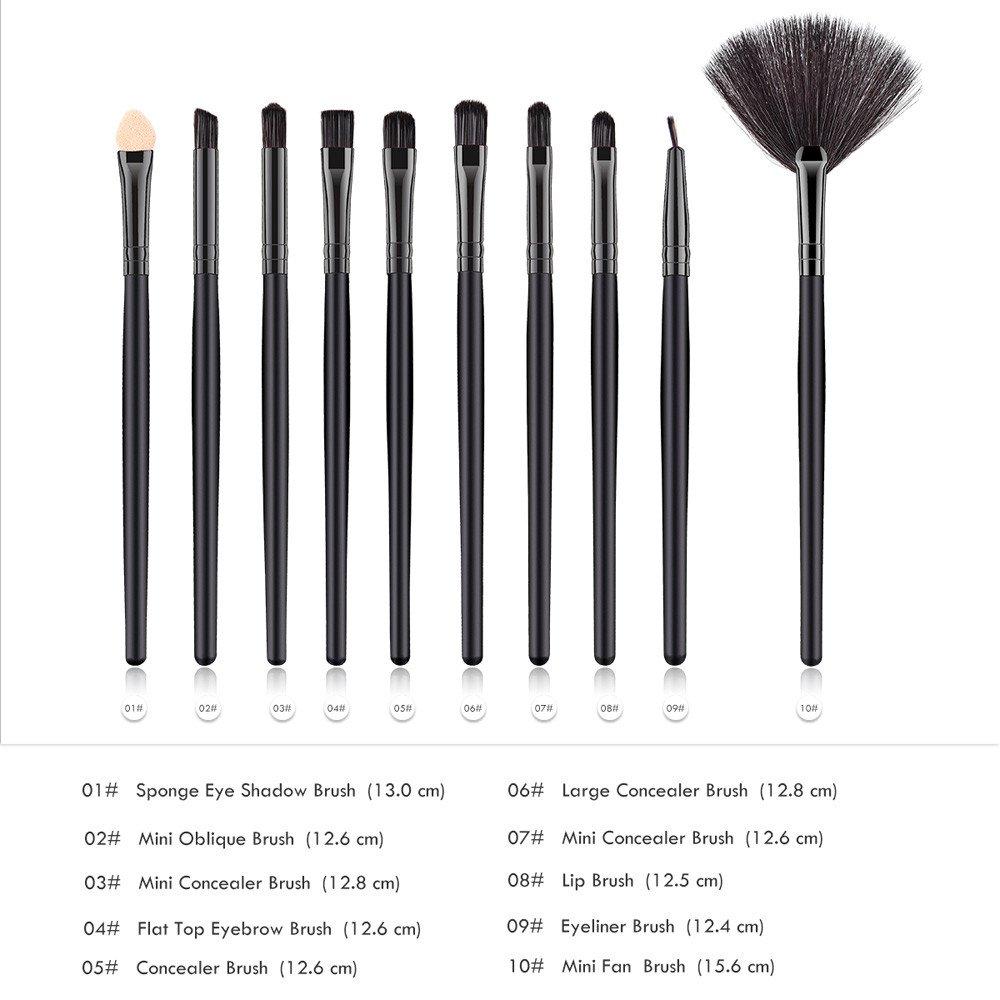 add5225b20f9 Amazon.com: Kaitobe Clearance Makeup Brush Set,10 pcs Cosmetic ...