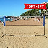 Badminton Beach Volleyball Tennis Portable Net Training Carrying Bag Set 10 X 5 FT