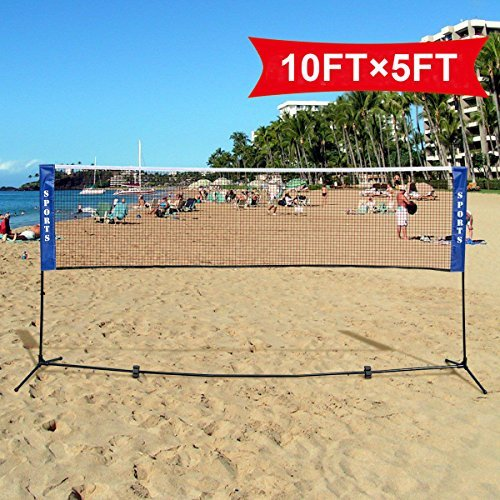 Badminton Beach Volleyball Tennis Portable Net Training Carrying Bag Set 10 X 5 - Australia Express Vision