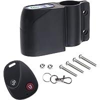 Be In Your Mind - Cerrojo de alarma antirrobo con mando a distancia para bicicleta, color negro