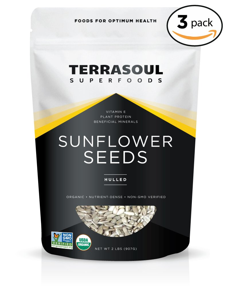 Terrasoul Superfoods Hulled Organic Sunflower Seeds, 6 Pounds