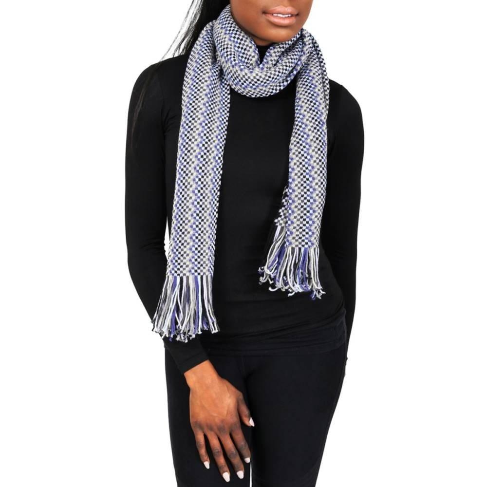 (ミッソーニ) Missoni レディース マフラースカーフストール D4898 0002 Purple Wool Blend Crochet Knit Zigzag Scarf [並行輸入品] B07813XT15   OSFA