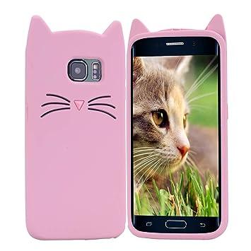 HopMore Gato Funda para Samsung Galaxy S7 Edge Silicona Motivo 3D Divertidas Gato TPU Gel Kawaii Carcasa Samsung S7 Edge Ultrafina Slim Case ...