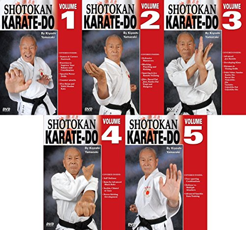5 DVD SET Japanese Shotokan Karate Do - Kiyoshi Yamazaki 8th Dan Ryobukai by Empire Publications