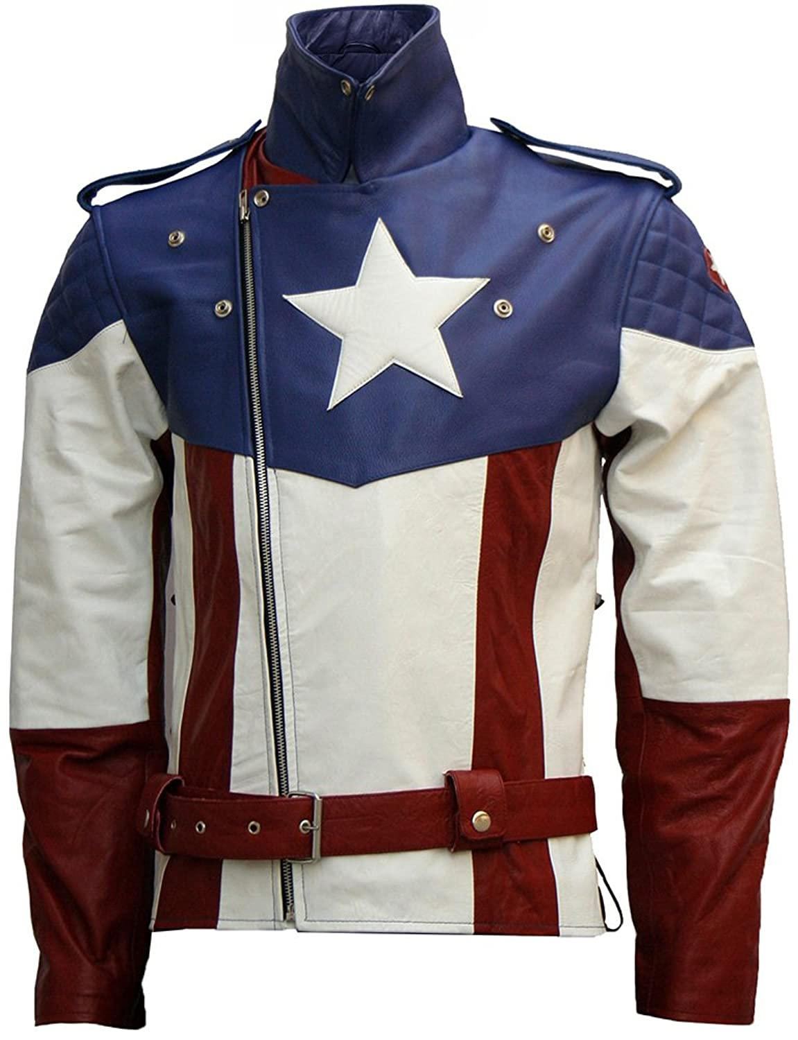 The First Avenger: Captain America Hot Leather Jacket - DeluxeAdultCostumes.com