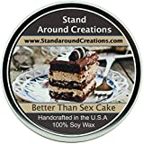 Premium 100% All Natural Soy Wax Aromatherapy Candle - 16 oz Tin- Better Than Sex Cake: German chocolate cake that is blended with semi-sweet chocolate chips and laced with crunchy toffee bits to create this decadent treat. Vanilla creme and butterscotch
