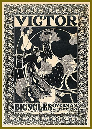 "18""x24"" Decoration Poster.Victor Bicycle.Vintage Bike Overman wheel Co.Art Nouveau.1199"