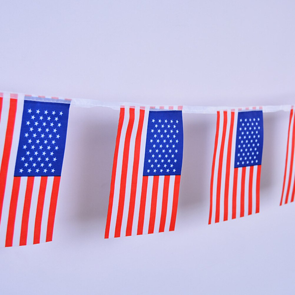 von Juli Unabhängigkeitstag Dekor US Flaggen Folienballone Amerika 4