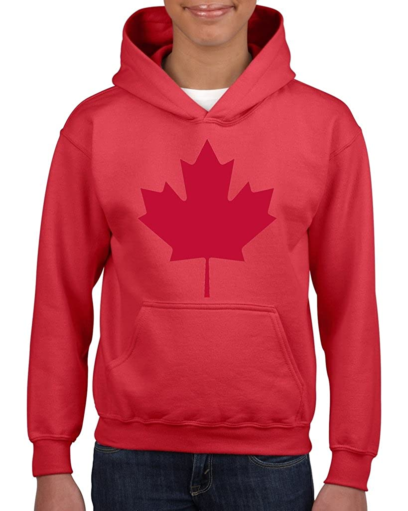 Artix Canada Maple Leaf Proud Canadian Hoodie for Girls - Boys Youth Kids