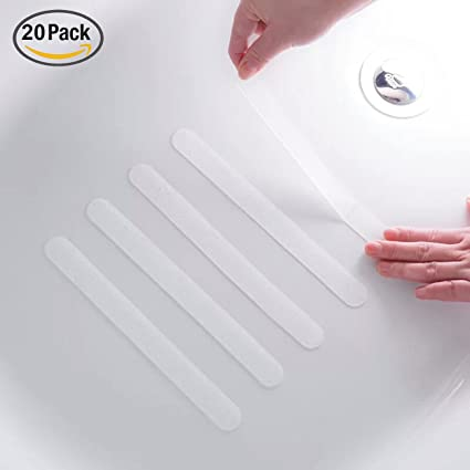 Anti Slip Strips, Safety Shower Treads Stickers   20 Pcs, Bathtub Non Slip