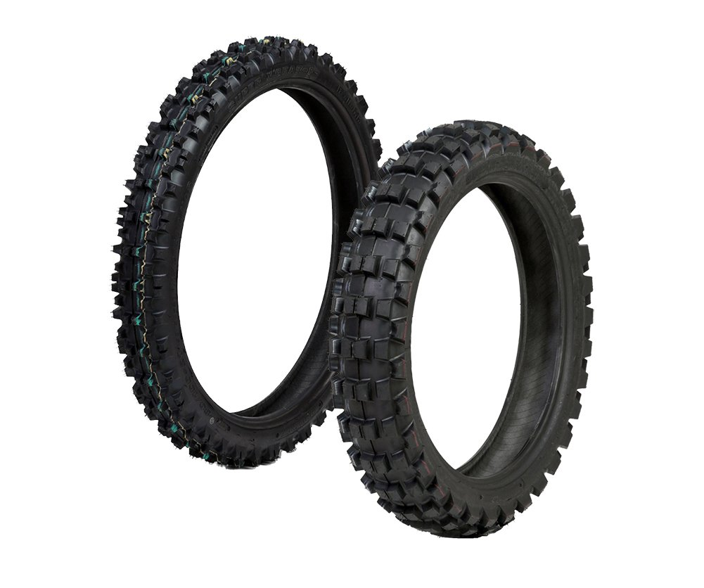 ProTrax Offroad Front 80/100-21 & Rear 110/100-18 Inch Tire Combo Motocross Dirtbike PT1174