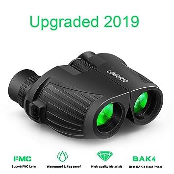 10X25 Binoculars Compact, High Power Mini Binoculars with Carry Bag & Neck Strap, Waterproof HD Folding Binoculars for Adult, Bird Watching, Travel ...