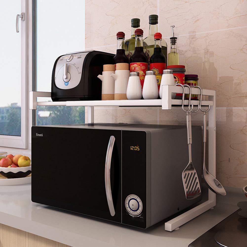 Estante de cocina para microondas y horno, ajustable, multifunción, acero inoxidable, 43 - 65 cm: Amazon.es: Jardín
