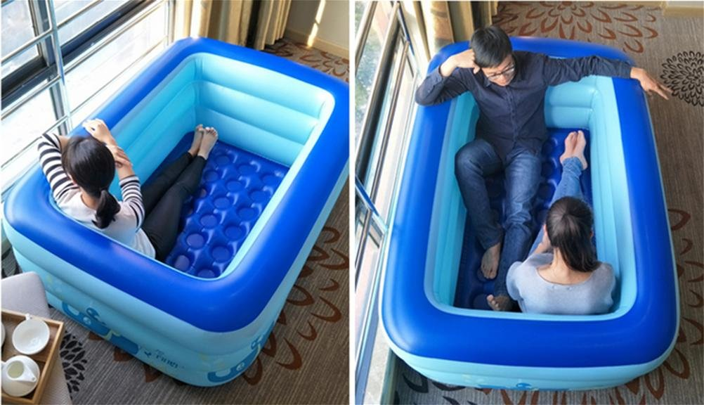 FACAI888 Double Inflatable Bath / Thickened Tub / Fold Tub / Children'S Pool - Bath Tub - Inflatable Tub WOYAOFACAI888