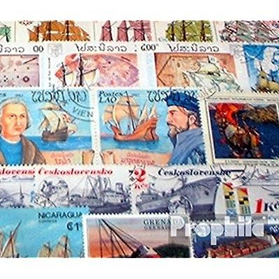 100 timbres (motifs Navires et Bateaux) Oblitérés pour collectionneurs