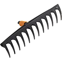 Fiskars Hark met 12 tanden, gereedschapskop, breedte: 41 cm, glasvezelversterkte kunststof, zwart/oranje, QuikFit…