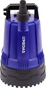 MEDAS 2021 New Upgraded Submersible Clean Water Pump One Year Non-Stop Running Durable 1/2 HP 1700 GPH Portable Sump Electric Transfer Pumps for Ponds,Pools,Basement and Drain