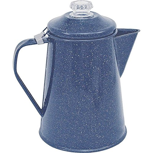Granite Ware F0224-4 2 Quart Blue Porcelain Coffee Perculator Columbian Home Prod.